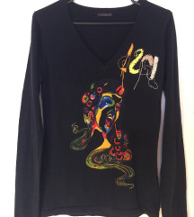 Desigual crni fini pulover