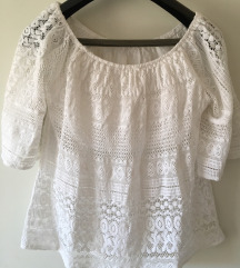 Bijela košulja bluza - čipka S