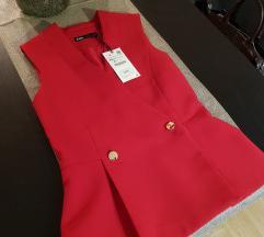 Zara crveni prsluk, novo