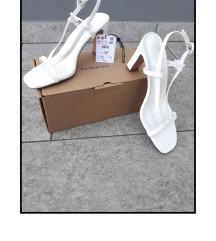 NOVE Reserved kroko bijele retro sandale