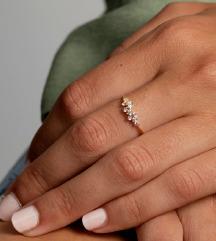 Pozlaćeni prsten s 18K zlatom