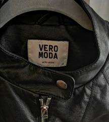 Kožna jakna crna Vero Moda
