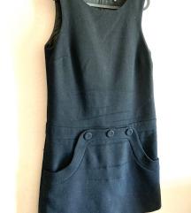 Tara Jamon crna haljinka, glatka vuna