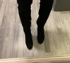 Crne čizme iznad koljena 38