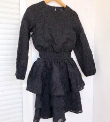 SISTERSPOINT crna svečana haljina dugih rukava