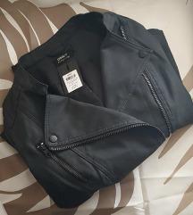 Crna jaknica Only Ava - umjetna koža - NOVO