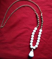 Prekrasna bijela ogrlica **NOVO**