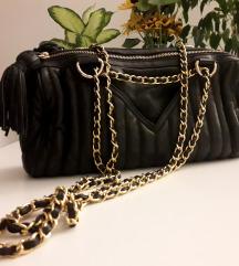 Zara quilted kožna torba