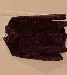 Amisu oversized ljubičasti pulover