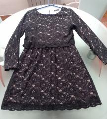 La redoute crna haljina od čipke