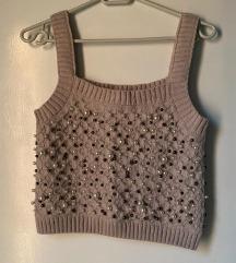 Zara pleteni top sa perlicama