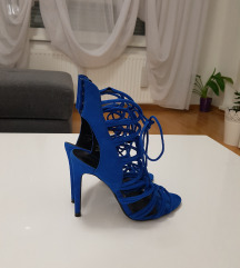 Zara kobaltno plave sandale