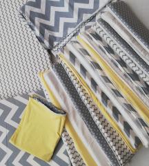 Zaštitna ogradica i zaštitne navlake+posteljina