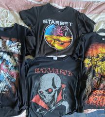 Lot metal/rock majice