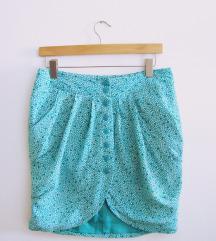 Ljetna suknja na cvjetni uzorak