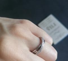 Prsten dijamanti bijelo zlato