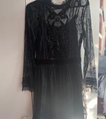 Zara čipkasta mini haljina XS/S
