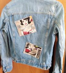 Pop art traper jakna, xs-s