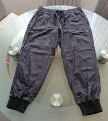 Zara nove kraće cargo tamnosive hlače