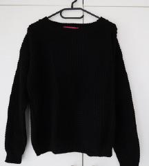 Boohoo crni džemper