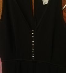 Nenošeni H&M crni kombinezon 34/36