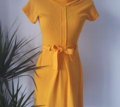 Žuta vintage haljina