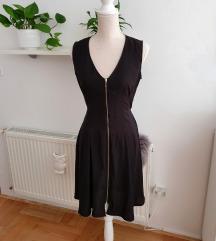 Crna haljina sa zipom