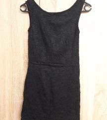 Crna haljina s čipkom*