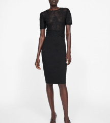 Zara lace pencil haljina