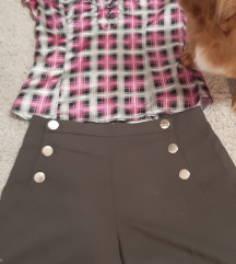 Lot košulja i kratke hlače visoki struk