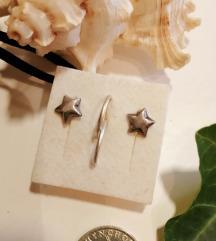 Mini srebrne naušnice LOT