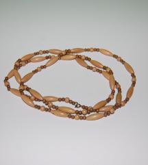 Rezz NOVO dugačka ogrlica od drvenih perlica