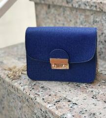 Plava mini torbica
