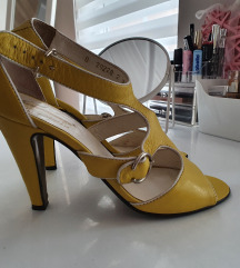 Žute sandale sa petom