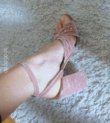Plišane sandale blok peta