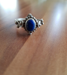 Prsten sa poludragim kamenom srebro