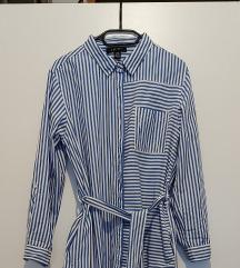 Prugasta košulja haljina