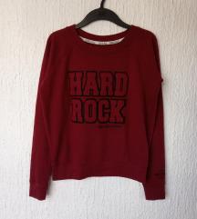 HARD ROCK CAFFE BORDO SWEATER MAJICA vel.S