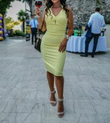 Uska žuta haljina Gossip