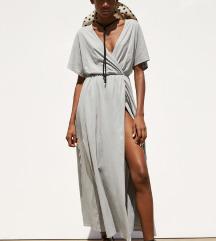 Zara siva wrap haljina