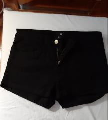 Kratke crne jeans hlačice