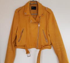 Bershka žuta jakna biker