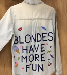 Ručno oslikana traper košulja