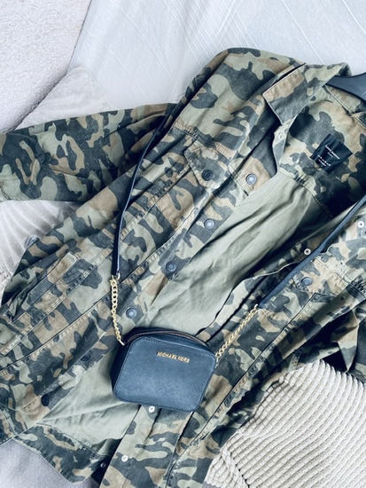 ZARA jeans military jakna