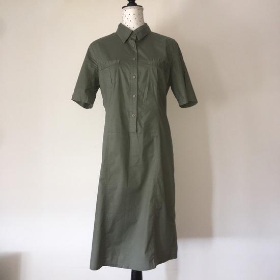 Maslinasta haljina od tankog pamuka