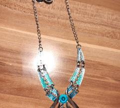 Komplet ogrlica i naušnice novi SNIZENO
