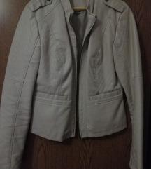 Bež kožna jakna