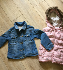 C&a...Jeans jaknica i prsluk vel 4-5