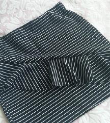 ZARA nova crno-bijela suknja