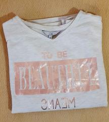 C&A ženska bež majica s natpisom